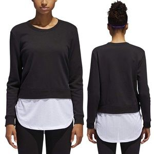 Adidas Mesh Layered Black Sweatshirt Women's XL